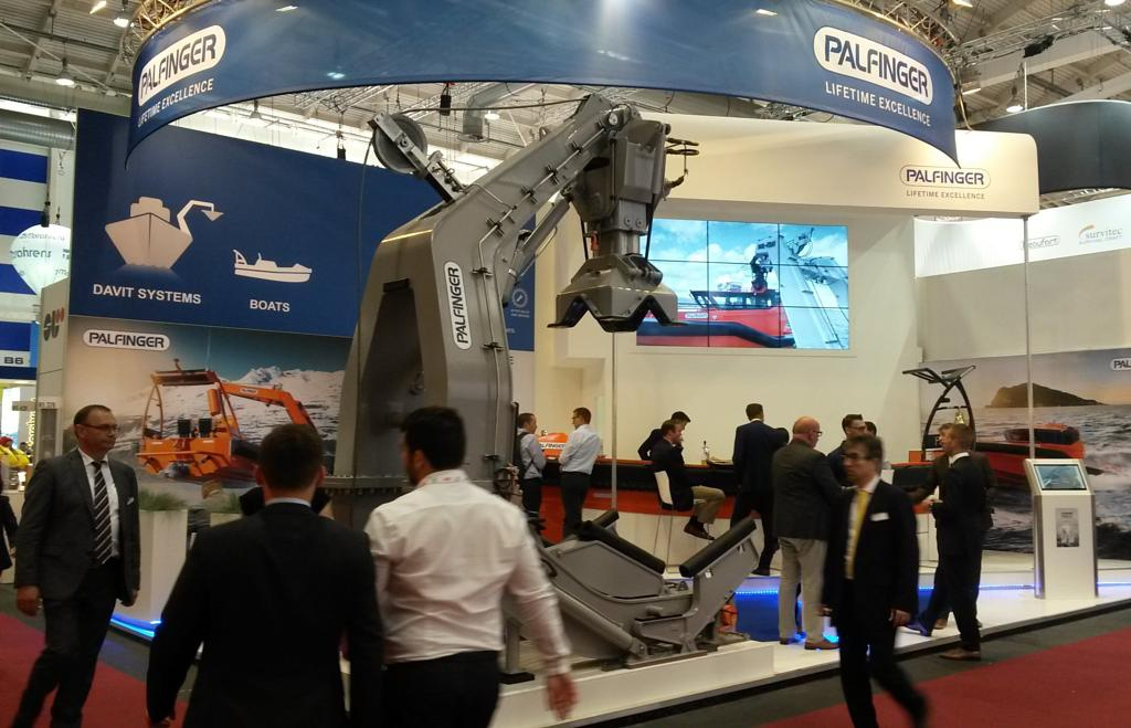 SBS is the supplier of Palfinger Marine, whose equipment was presented at SMM Hamburg